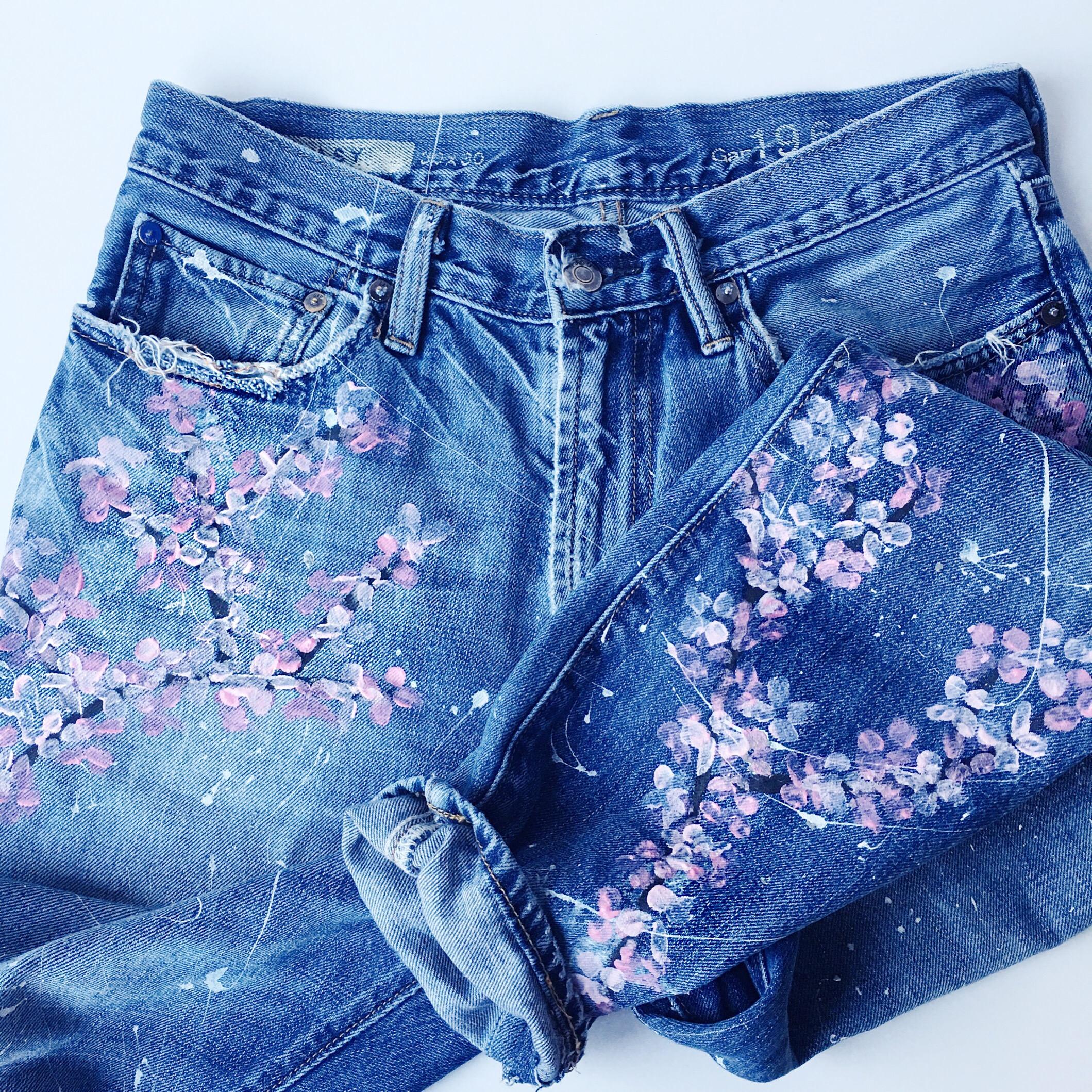 Diy Floral Boyfriend Jeans