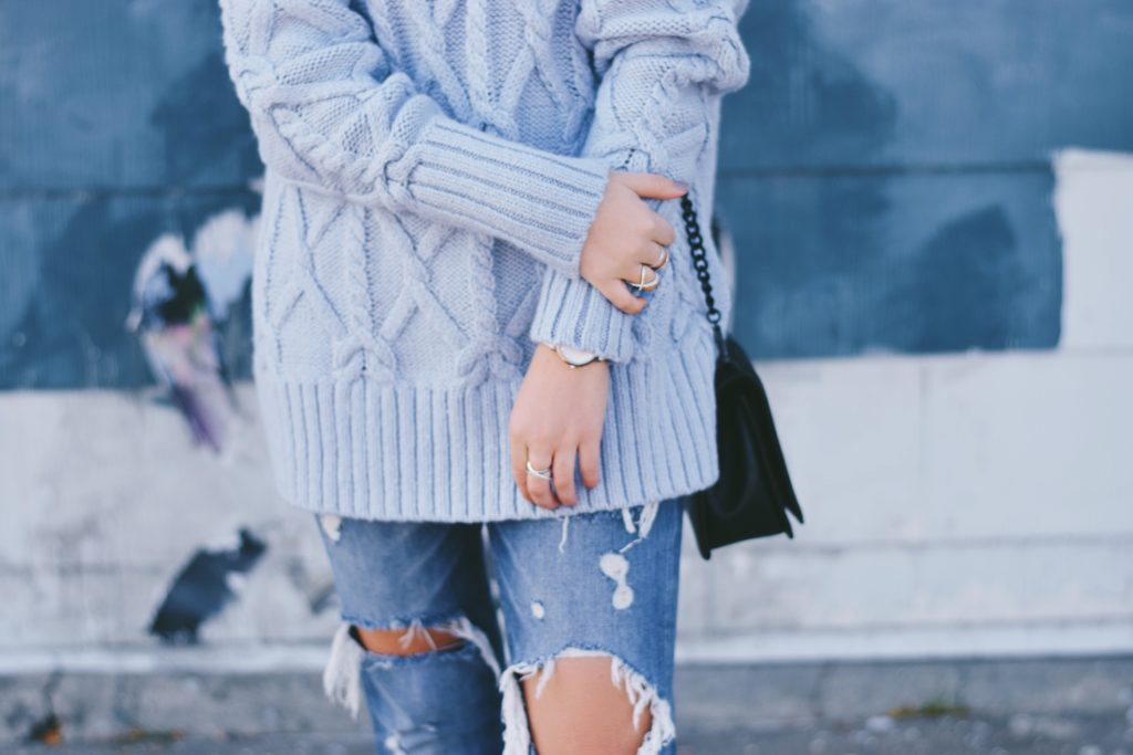 wearing pastels in the fall or winter