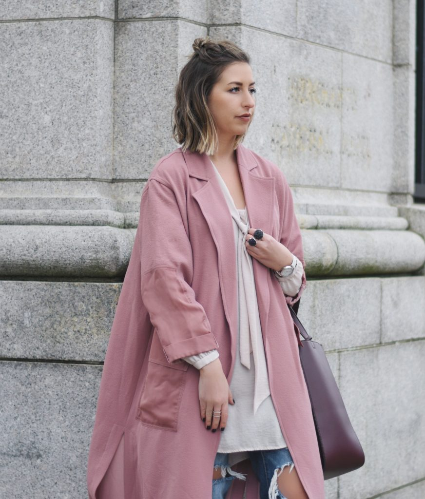 how to transition a duster coat into winter