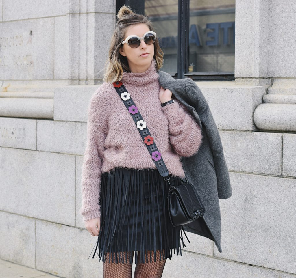 how to style a fringe skirt for winter