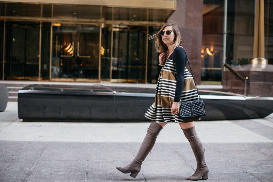 how to turn a party dress into workwear