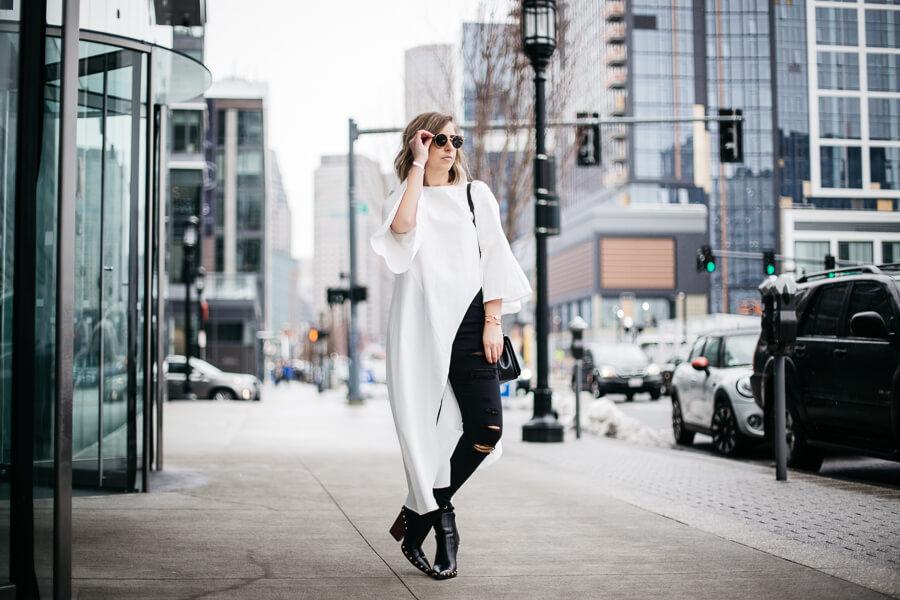how to wear an asymmetrical blouse