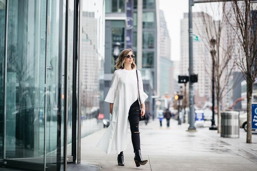 how to wear an asymmetric blouse