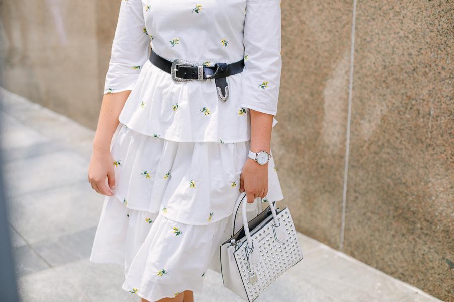 proverbial hearts wearing english factory ruffle dress